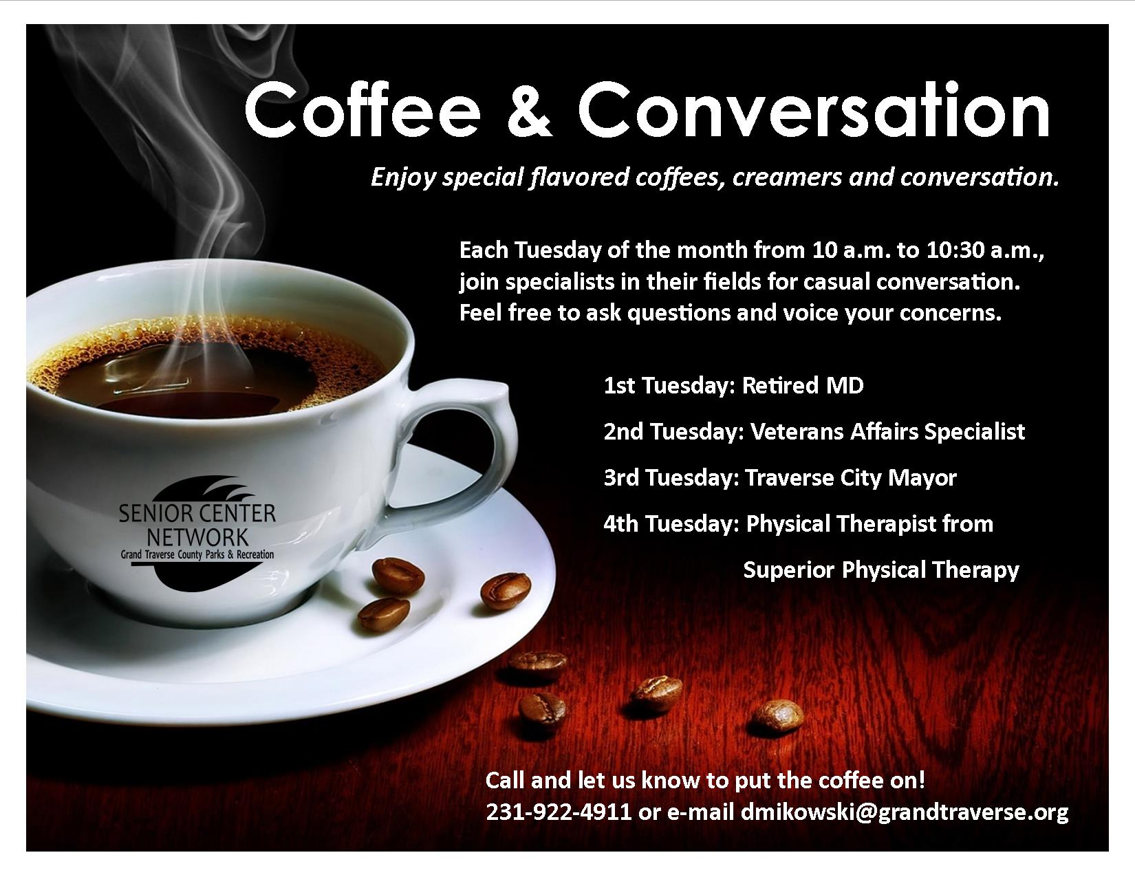 Coffee and Conversation Poster