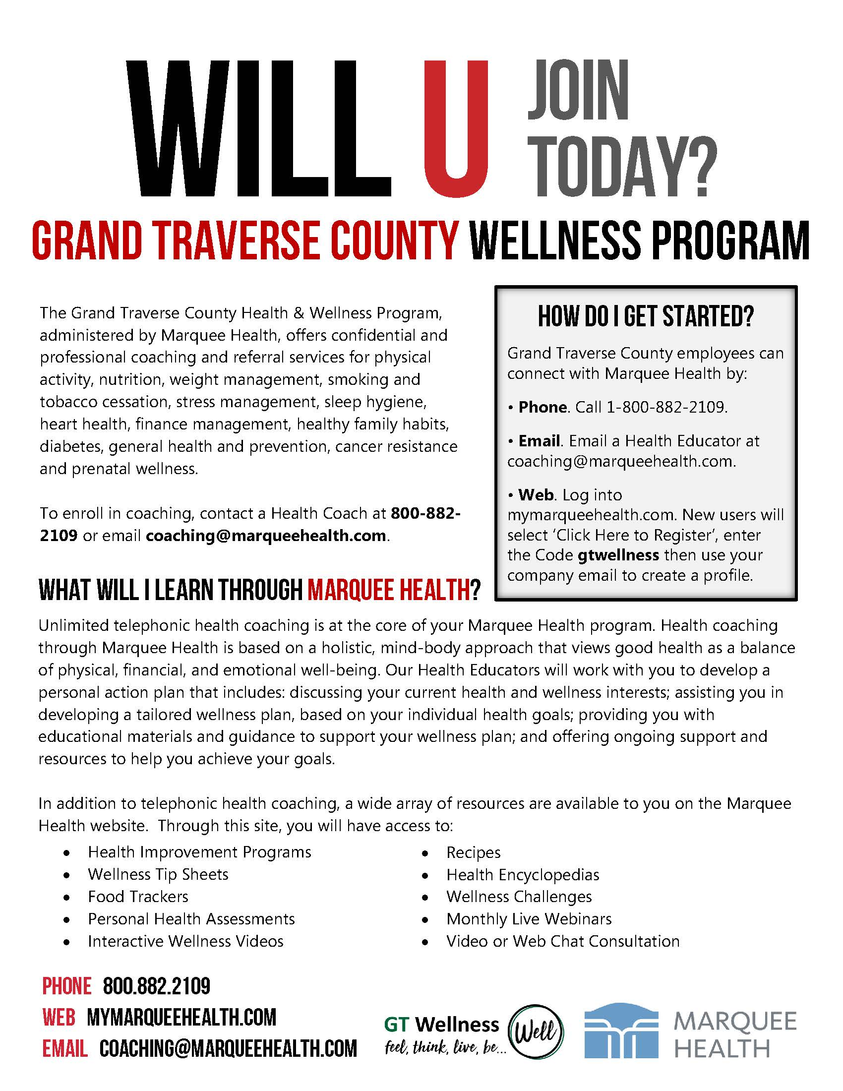 Marquee Health - Intro Flyer - Grand Traverse County