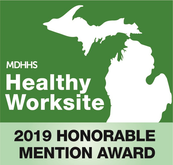 Honorable Mention Award MDHHS Healthy Worksite