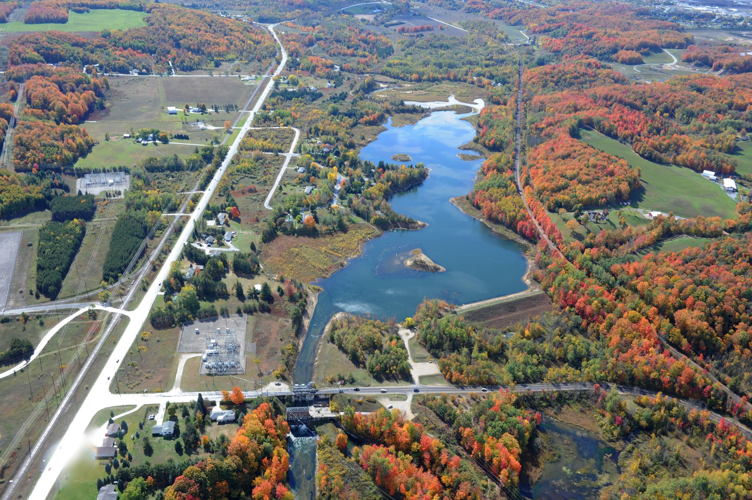Boardman Pond Looking Upstream October 6, 2012  credit Jim Anderson Aerial Photography
