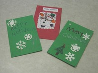 3 homemade Christamas cards