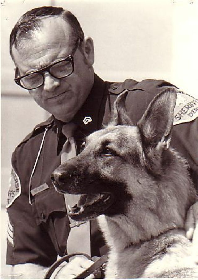 Sergeant Strait and K-9 Lugar