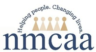 NMCAA logo, helping people. changing lives