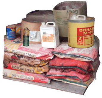 Examples of pesticides and hazardous waste