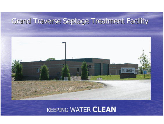 Grand Traverse Septage Treatment Facility - Keeping Water Clean Banner Image