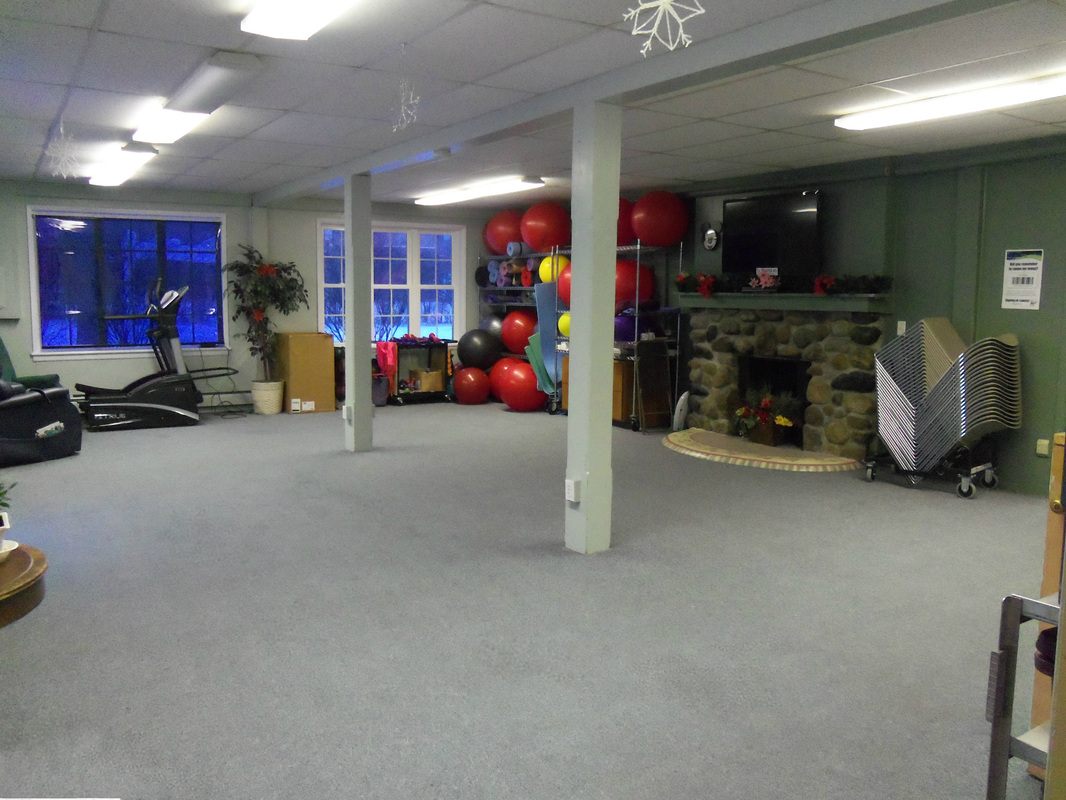 A room with fitness equipment